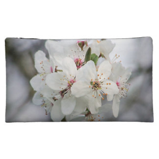 White Cherry Flower Makeup Bag