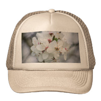 White Cherry Flower Trucker Hat