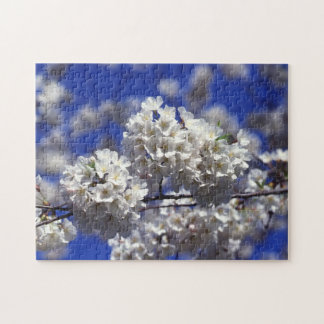 White Cherry Tree Blossoms Flowers Puzzle
