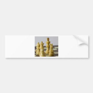 White chess pieces bumper sticker