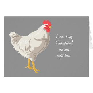 White Chicken Card