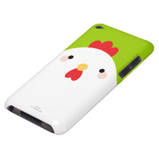 White Chicken on Green Barely There iPod Cover