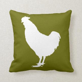 White chicken throw pillow