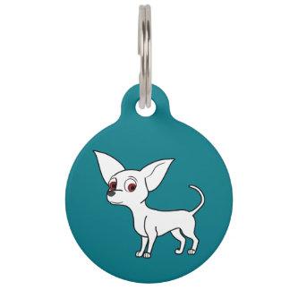White Chihuahua with Short Hair Pet Nametag