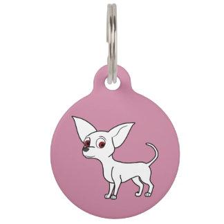 White Chihuahua with Short Hair Pet Nametags