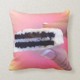 White Chocolate Oreo Throw Pillow