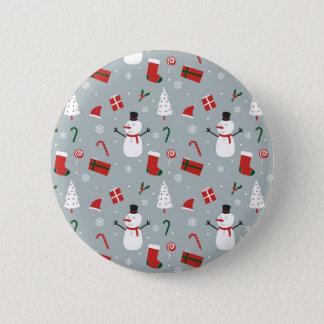 White Christmas 2 Inch Round Button