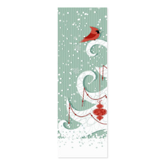 White Christmas Bookmark Business Card