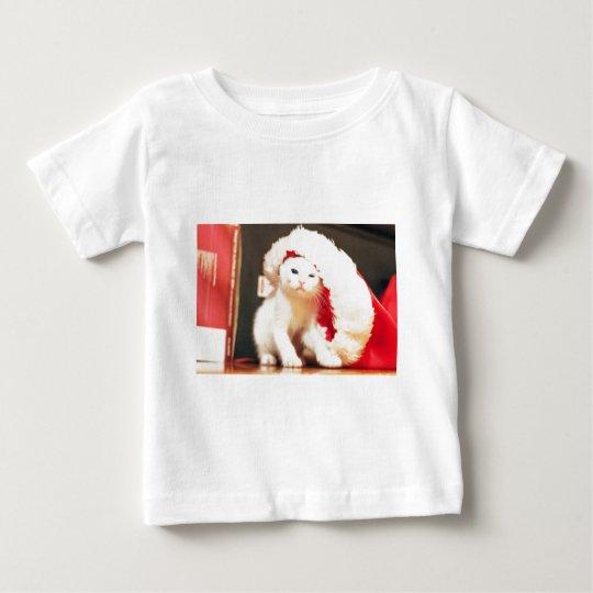 White Christmas Cat Baby T-Shirt