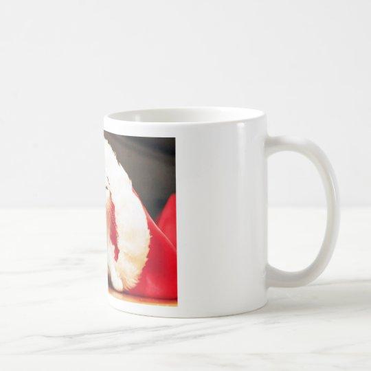 White Christmas Cat Coffee Mug