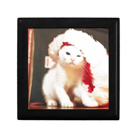 White Christmas Cat Gift Box
