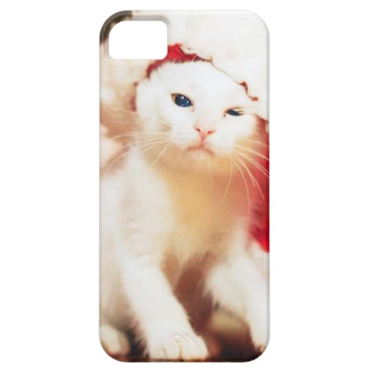 White Christmas Cat iPhone 5 Case
