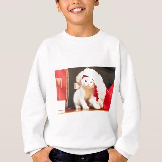 White Christmas Cat Sweatshirt