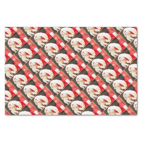 White Christmas Cat Tissue Paper