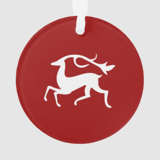 White Christmas Deer Ornament