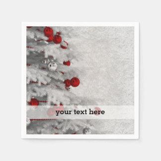 White Christmas Disposable Napkin