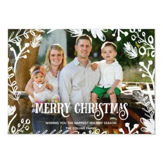 White Christmas Full Photo Horizontal Holiday Card