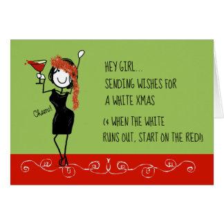 White Christmas Funny Sisterhood Christmas Card