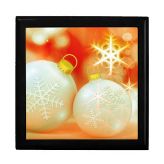 White Christmas Ornaments Gift Boxes