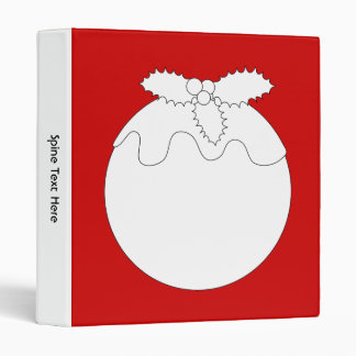 White Christmas Pudding, on Red. Binder