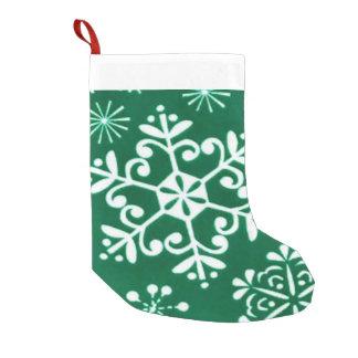 White Christmas Snowflake Holiday stocking