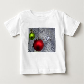 White Christmas Tree Baubles Baby T-Shirt