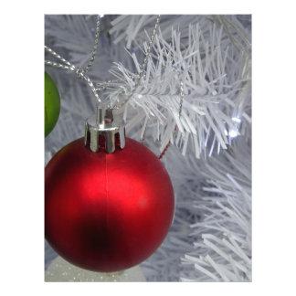 White Christmas Tree Baubles Letterhead