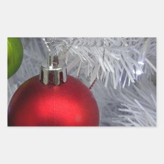White Christmas Tree Baubles Sticker
