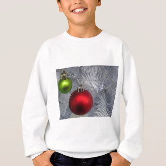 White Christmas Tree Baubles Sweatshirt