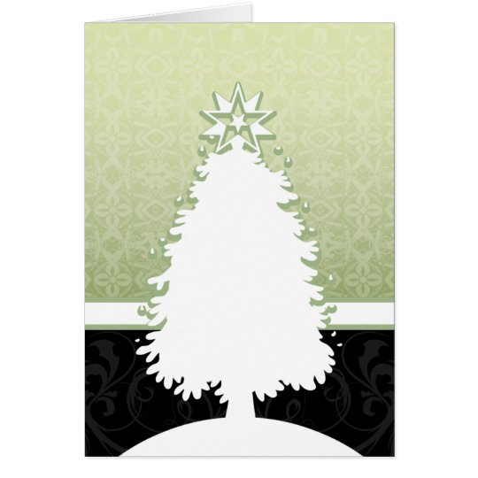 White Christmas Tree Card