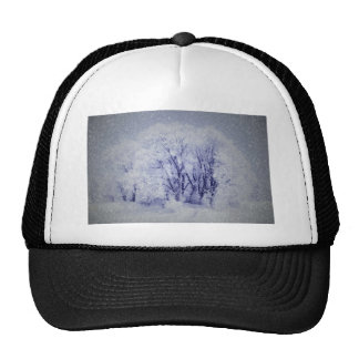 White Christmas Trucker Hat