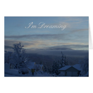 White Christmas View Card