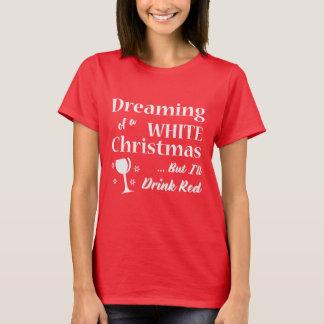 White Christmas | Wine Tshirt | Christmas Gift