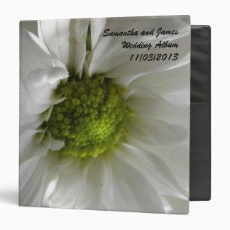 White Chrysanthemum Custom Wedding Album Binder