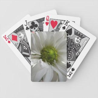 White Chrysanthemum Playing Cards