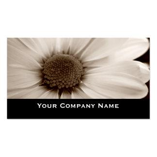 White Chrysanthemum sepia flower Business Cards