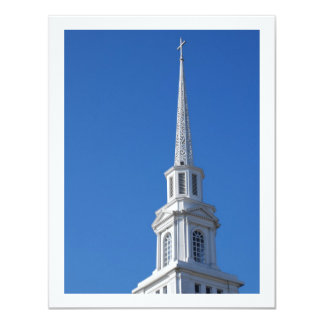 White Church Steeple Card