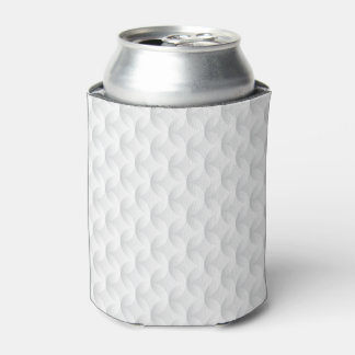 White circle embossed can cooler