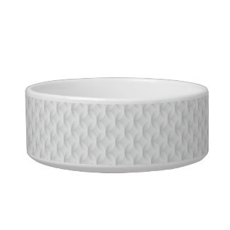 White circle embossed pet water bowls