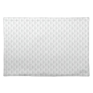 White circle embossed placemat