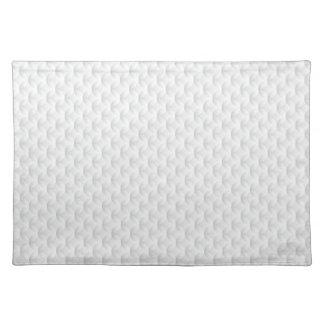 White circle embossed placemat
