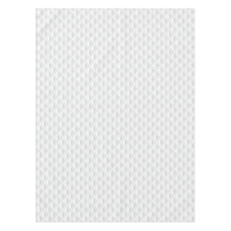 White circle embossed tablecloth