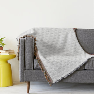 White circle embossed throw blanket