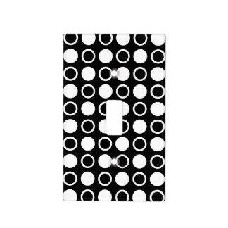 White Circles and Polka Dots Light Switch Cover