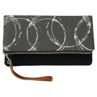 White Circles Clutch Bag