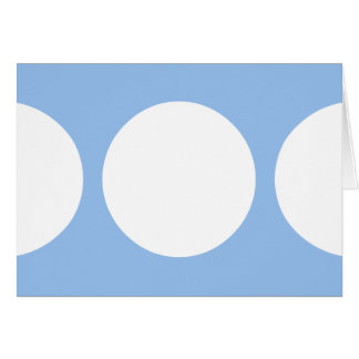 White Circles on Light Blue Card