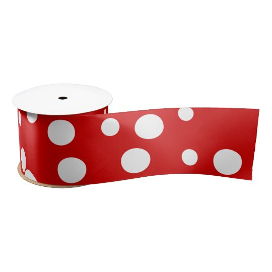 White circles satin ribbon