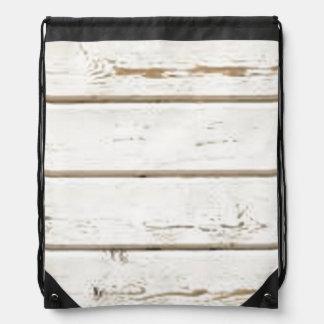 White Clapboard Drawstring Bag