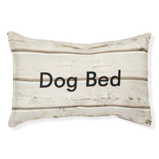 White Clapboard Pet Bed