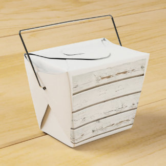 White Clapboard Wedding Favor Box